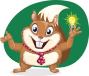 Squirrel with a Tie Cartoon Vector Character AKA Antonio the Businessman - Shape 6