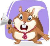 Squirrel with a Tie Cartoon Vector Character AKA Antonio the Businessman - Shape 7