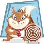 Squirrel with a Tie Cartoon Vector Character AKA Antonio the Businessman - Shape 8
