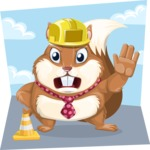 Squirrel with a Tie Cartoon Vector Character AKA Antonio the Businessman - Shape 9