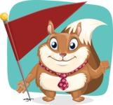 Squirrel with a Tie Cartoon Vector Character AKA Antonio the Businessman - Shape 11