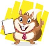 Squirrel with a Tie Cartoon Vector Character AKA Antonio the Businessman - Shape 12