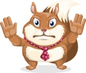 Squirrel with a Tie Cartoon Vector Character AKA Antonio the Businessman - Stop 2