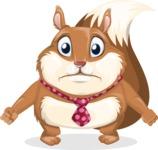 Squirrel with a Tie Cartoon Vector Character AKA Antonio the Businessman - Sad