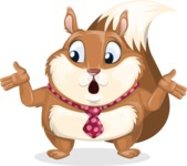 Squirrel with a Tie Cartoon Vector Character AKA Antonio the Businessman - Lost
