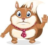 Squirrel with a Tie Cartoon Vector Character AKA Antonio the Businessman - Goodbye