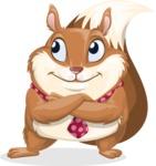 Squirrel with a Tie Cartoon Vector Character AKA Antonio the Businessman - Patient