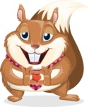 Squirrel with a Tie Cartoon Vector Character AKA Antonio the Businessman - Show Love