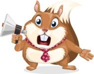 Squirrel with a Tie Cartoon Vector Character AKA Antonio the Businessman - Loudspeaker