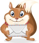 Squirrel with a Tie Cartoon Vector Character AKA Antonio the Businessman - Letter