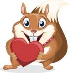 Squirrel with a Tie Cartoon Vector Character AKA Antonio the Businessman - Love