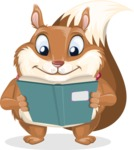 Squirrel with a Tie Cartoon Vector Character AKA Antonio the Businessman - Book 1
