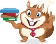 Squirrel with a Tie Cartoon Vector Character AKA Antonio the Businessman - Book 2