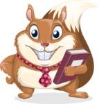 Squirrel with a Tie Cartoon Vector Character AKA Antonio the Businessman - Book 3