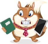 Squirrel with a Tie Cartoon Vector Character AKA Antonio the Businessman - Book and iPad