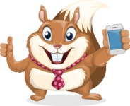 Squirrel with a Tie Cartoon Vector Character AKA Antonio the Businessman - iPhone