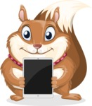 Squirrel with a Tie Cartoon Vector Character AKA Antonio the Businessman - iPad 1