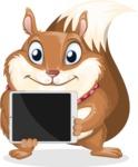 Squirrel with a Tie Cartoon Vector Character AKA Antonio the Businessman - iPad 2
