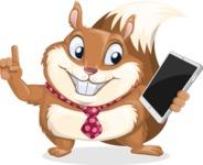 Squirrel with a Tie Cartoon Vector Character AKA Antonio the Businessman - iPad 3
