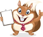 Squirrel with a Tie Cartoon Vector Character AKA Antonio the Businessman - Notepad 1