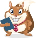 Squirrel with a Tie Cartoon Vector Character AKA Antonio the Businessman - Notepad 2