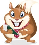Squirrel with a Tie Cartoon Vector Character AKA Antonio the Businessman - Notepad 3