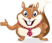 Squirrel with a Tie Cartoon Vector Character AKA Antonio the Businessman - Showcase 2