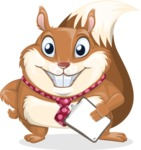 Squirrel with a Tie Cartoon Vector Character AKA Antonio the Businessman - Notepad 4