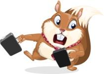 Squirrel with a Tie Cartoon Vector Character AKA Antonio the Businessman - Briefcase 3