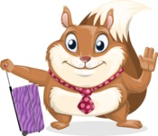 Squirrel with a Tie Cartoon Vector Character AKA Antonio the Businessman - Travel 1