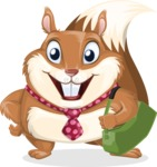 Squirrel with a Tie Cartoon Vector Character AKA Antonio the Businessman - Travel 2