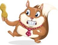 Squirrel with a Tie Cartoon Vector Character AKA Antonio the Businessman - Peanut