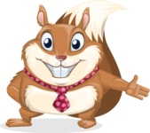Squirrel with a Tie Cartoon Vector Character AKA Antonio the Businessman - Show