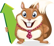 Squirrel with a Tie Cartoon Vector Character AKA Antonio the Businessman - Pointer 1