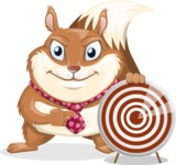 Squirrel with a Tie Cartoon Vector Character AKA Antonio the Businessman - Target