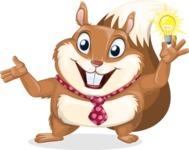 Squirrel with a Tie Cartoon Vector Character AKA Antonio the Businessman - Idea 1