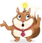 Squirrel with a Tie Cartoon Vector Character AKA Antonio the Businessman - Idea 2