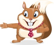 Squirrel with a Tie Cartoon Vector Character AKA Antonio the Businessman - Show 2