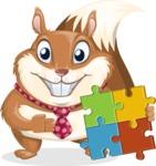 Squirrel with a Tie Cartoon Vector Character AKA Antonio the Businessman - Puzzle