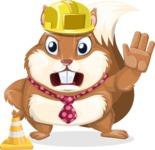 Squirrel with a Tie Cartoon Vector Character AKA Antonio the Businessman - Under Construction 1