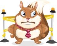 Squirrel with a Tie Cartoon Vector Character AKA Antonio the Businessman - Under Construction 2