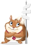 Squirrel with a Tie Cartoon Vector Character AKA Antonio the Businessman - Crossroad