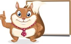 Squirrel with a Tie Cartoon Vector Character AKA Antonio the Businessman - Presentation 3