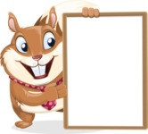 Squirrel with a Tie Cartoon Vector Character AKA Antonio the Businessman - Presentation 4