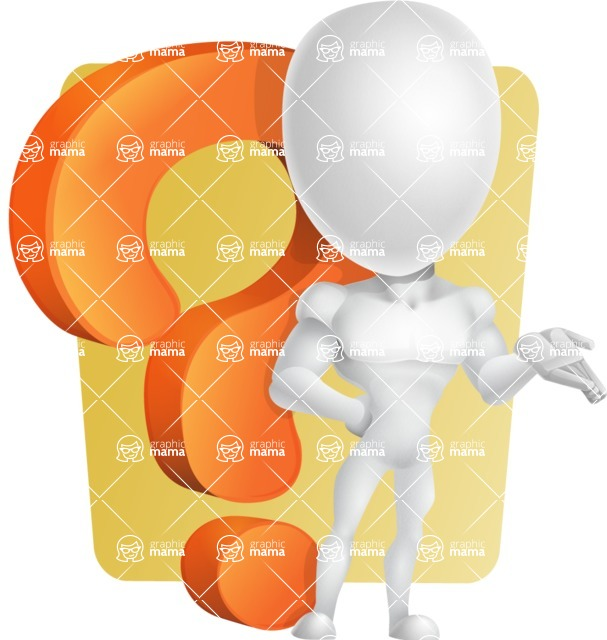 Strong Vector 3D Man with Muscles Cartoon Character AKA Vincent - Shape6