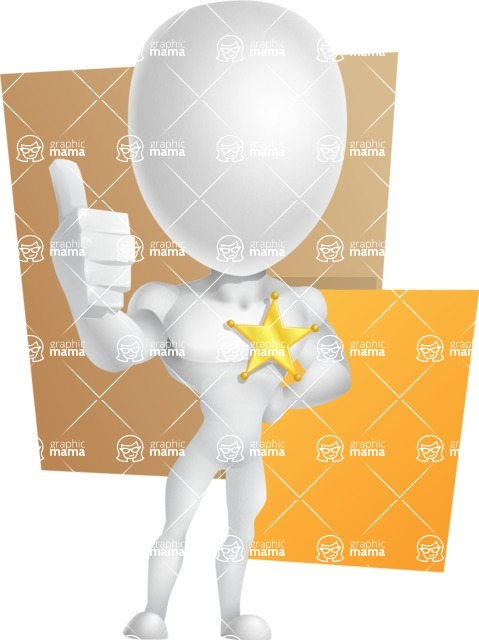 Strong Vector 3D Man with Muscles Cartoon Character AKA Vincent - Shape10