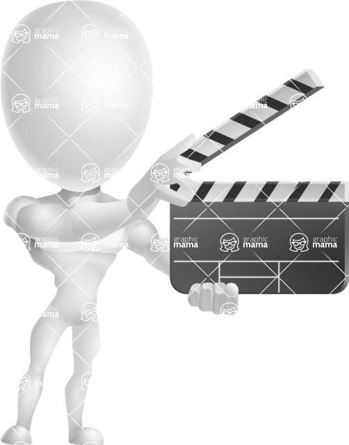 Strong Vector 3D Man with Muscles Cartoon Character AKA Vincent - Movie