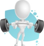 Strong Vector 3D Man with Muscles Cartoon Character AKA Vincent - Shape8