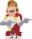 Handsome Superhero Cartoon Vector Character AKA Captain Millennia - Point2