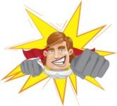 Handsome Superhero Cartoon Vector Character AKA Captain Millennia - Shape1